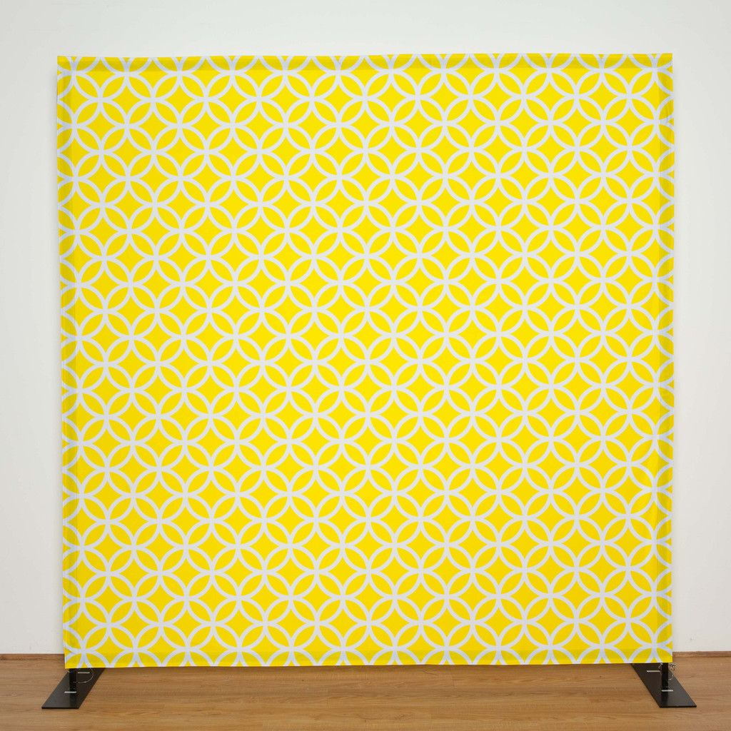 Yellow & White Pattern backdrop for photo booth, wedding, bar ...