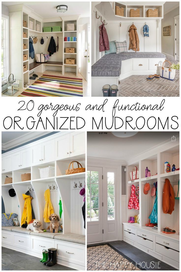 20 Gorgeous, Functional, & Organized Mudrooms | Mudroom, Organizing ...