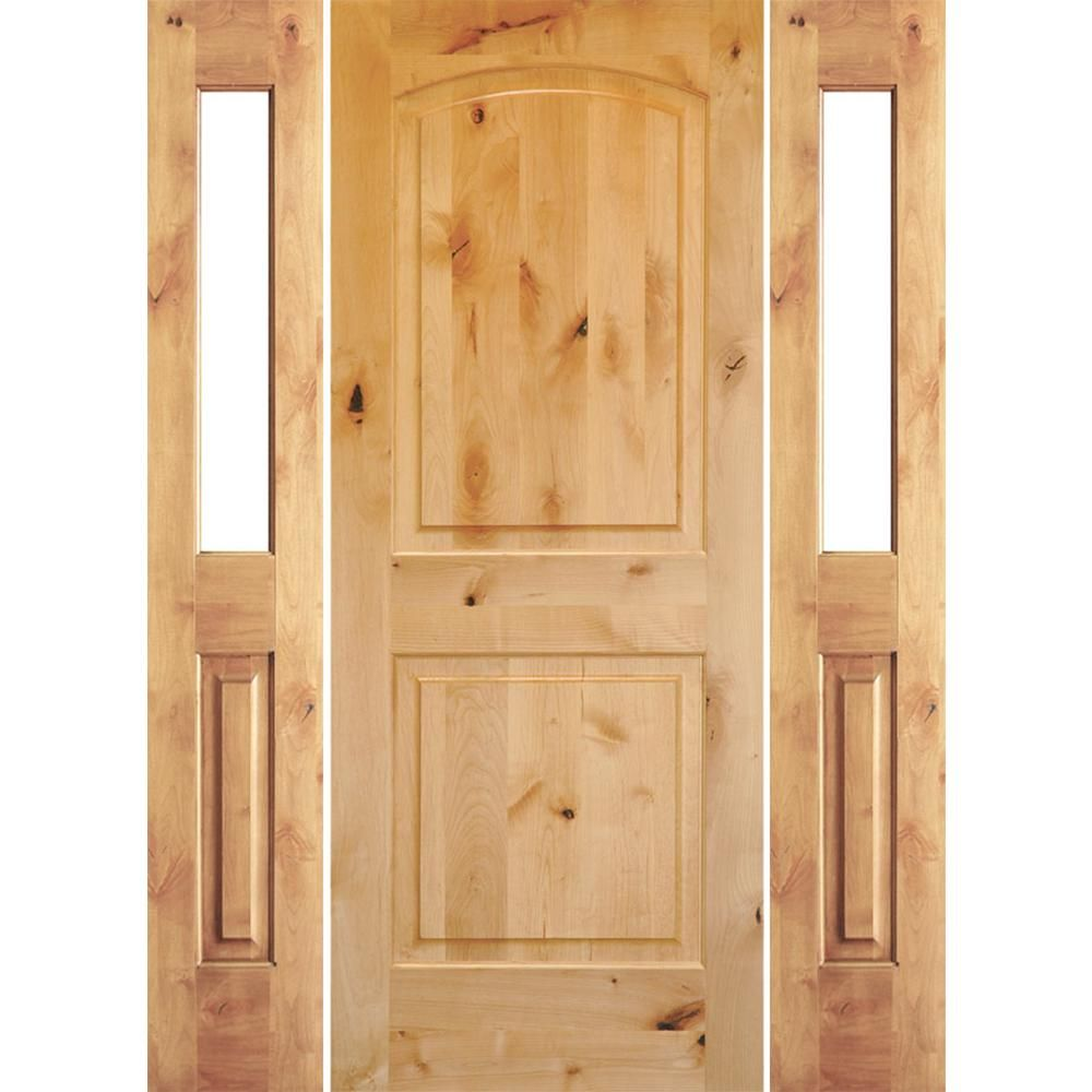 Krosswood Doors 70 In X 80 In Rustic Knotty Alder Arch Clear