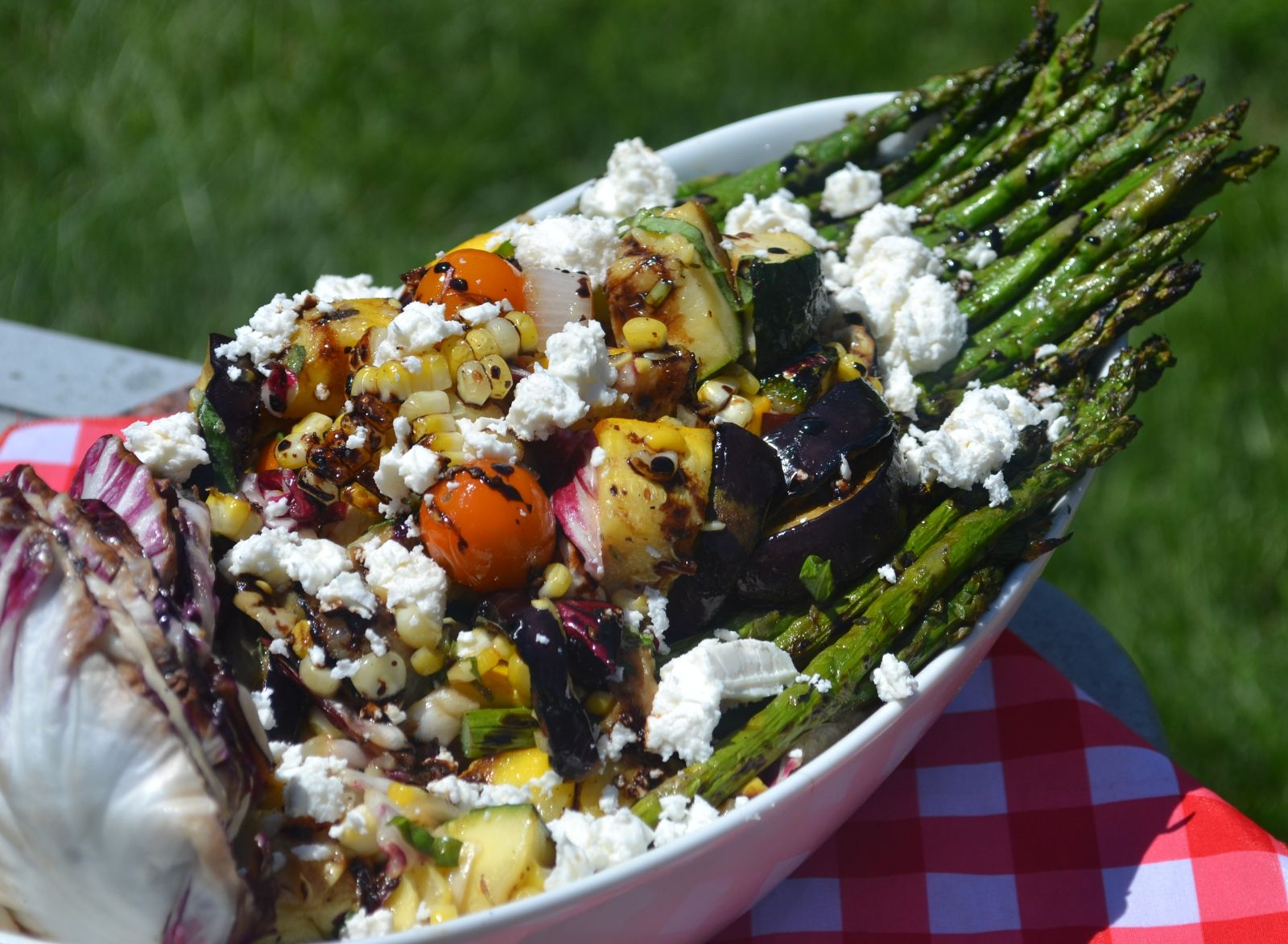 Grilled Summer Vegetable Salad | The Upstate Chef