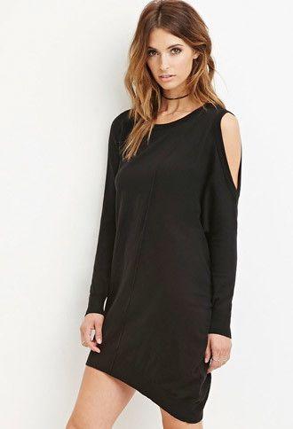 Contemporary Open Shoulder Dress Forever 21 2000162904