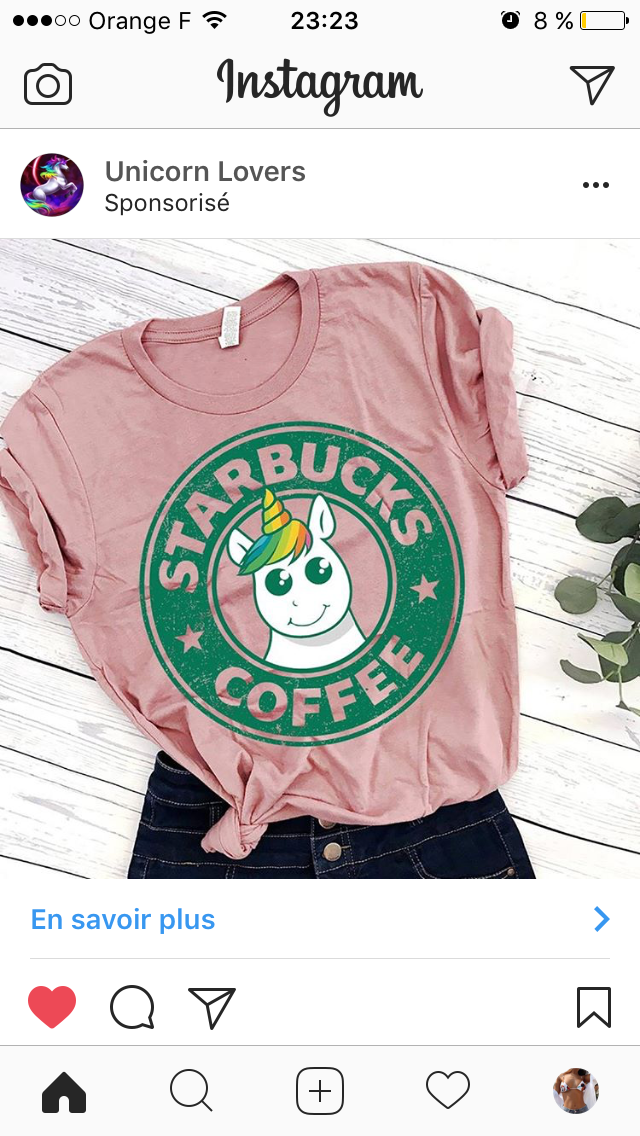 ceb07ebfa57 Unicorn Starbucks t-shirt | Shirts in 2019 | Starbucks shirt ...