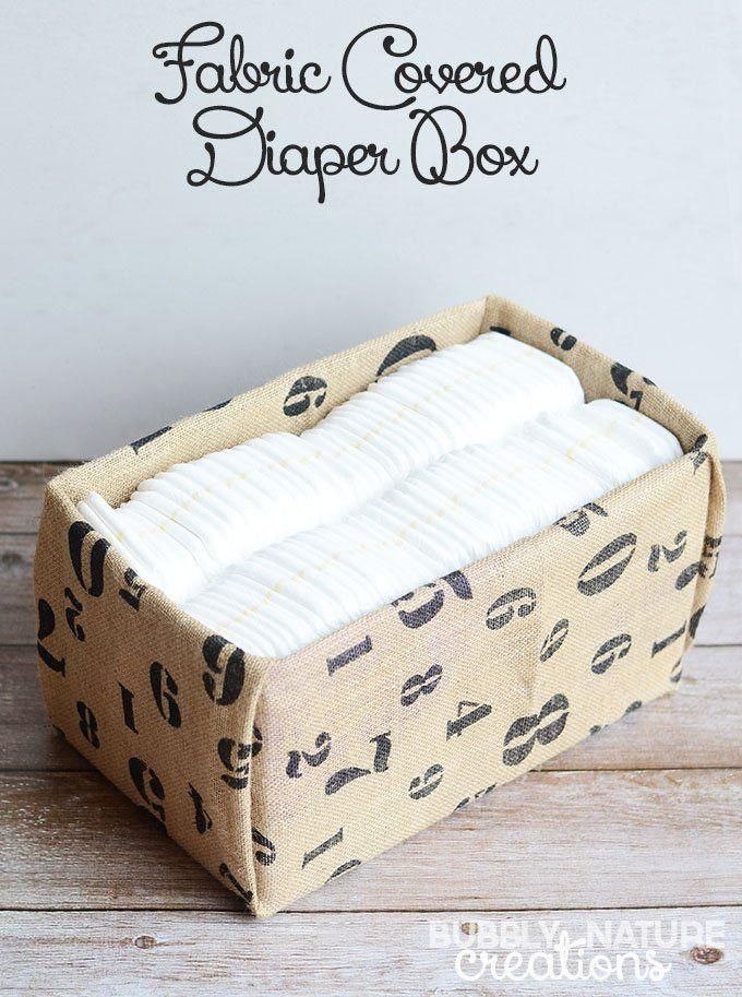 Diy Fabric Covered Diaper Box Diy Pinterest Diy Box And