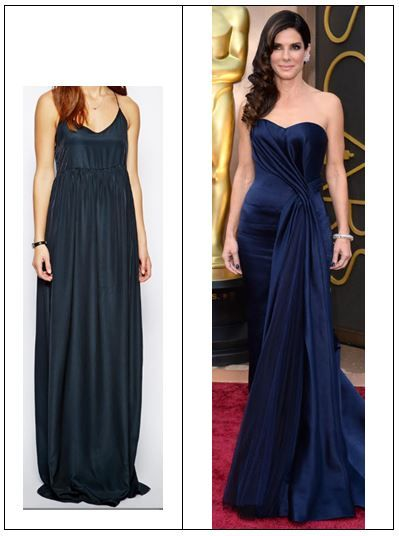 6009a3dbc2678 Sandra Bullock Inspired Oscars Gown - Tall Snob #oscars #celebrityfashion  #celebrity #redcarpet #tall