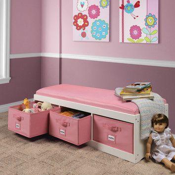 Charmant Room · Badger Basket Kidu0027s Storage Bench ...