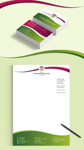 Visitenkarten Design Und Briefpapier Für Osteopathiepraxis