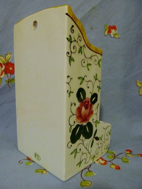 rooster and roses | Py Rooster & Roses Match Holder from prairieland on Ruby Lane