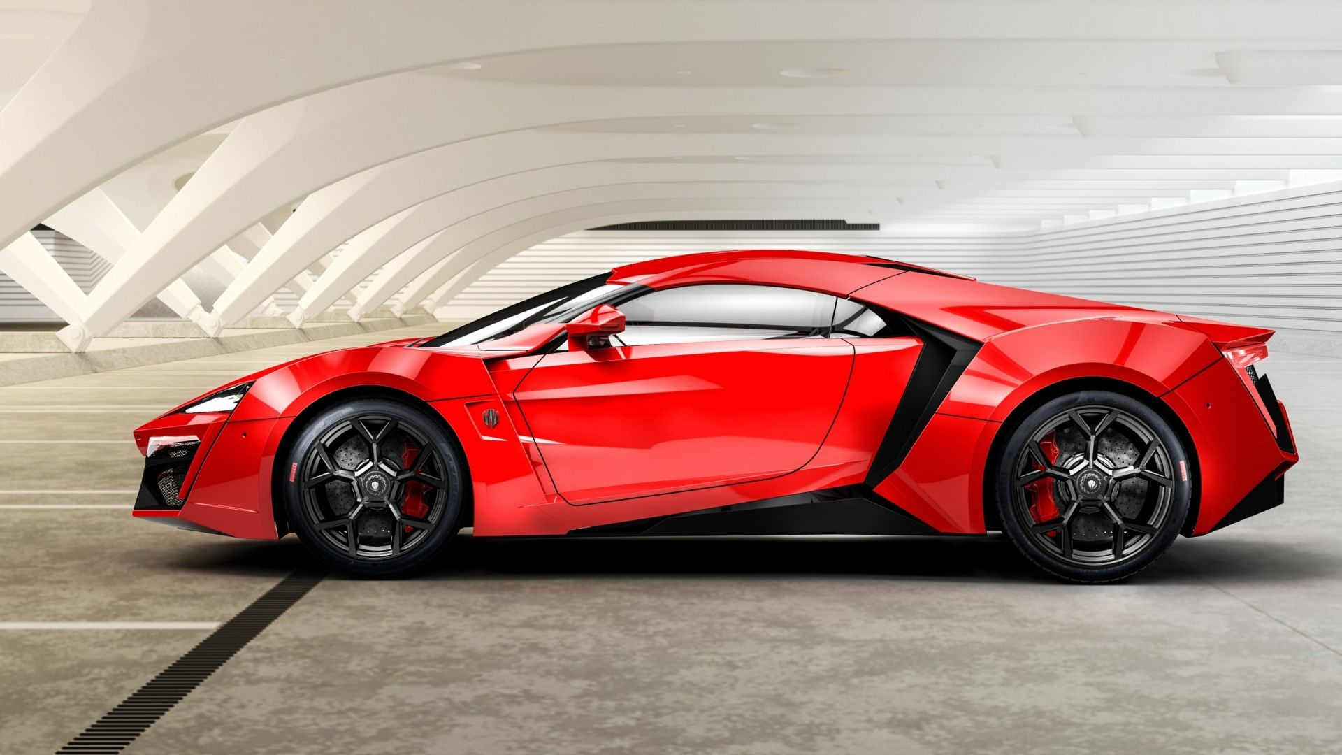 Download Wallpaper 1920x1080 Lykan Hypersport W Motors Red Lykan Hypersport Super Luxury Cars Sports Car