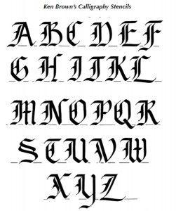 Kalligrafie learn english