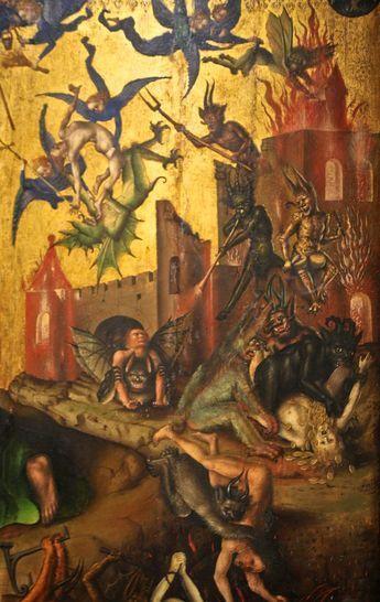 """El Juicio Final"" (detalle). Por Stefan Lochner, 1435. http://iglesiadesatan.com/"
