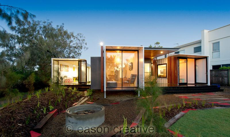 Beach box container house australia designed by john for Container home designs australia