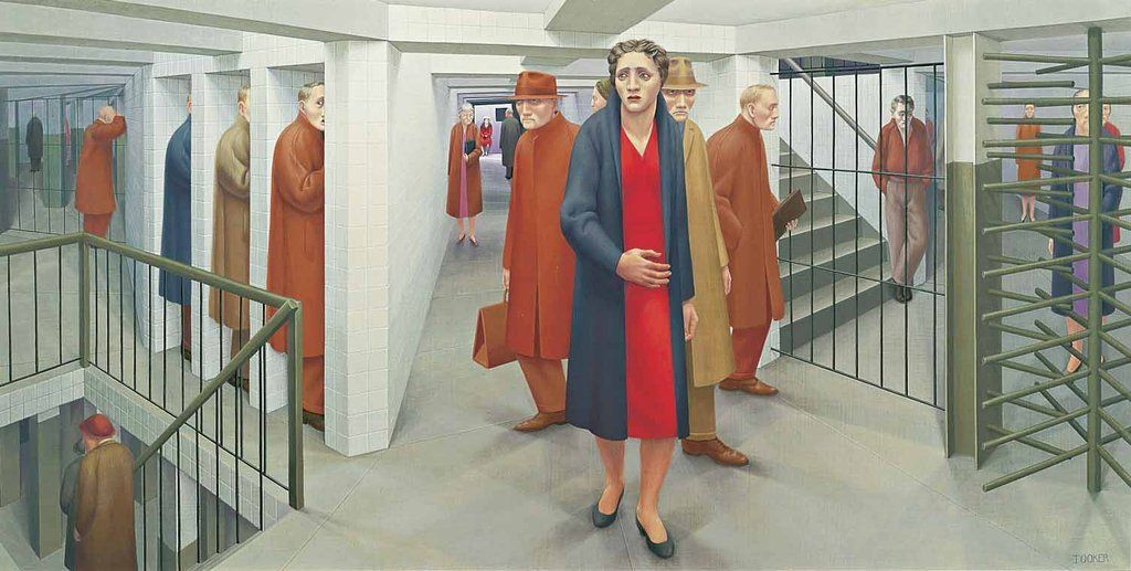 """Tooker The Subway"""" 1950 paintings in 2019"""