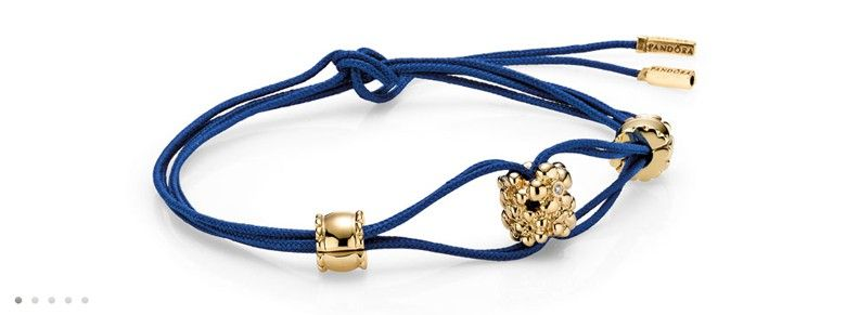bracelet Pandora bleu avec clip | Bracelet pandora, Charms pandora ...