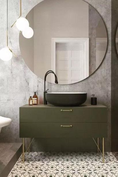 44 Beautiful Bathroom Mirror Design Ideas – HOMYHOMEE Bathroom