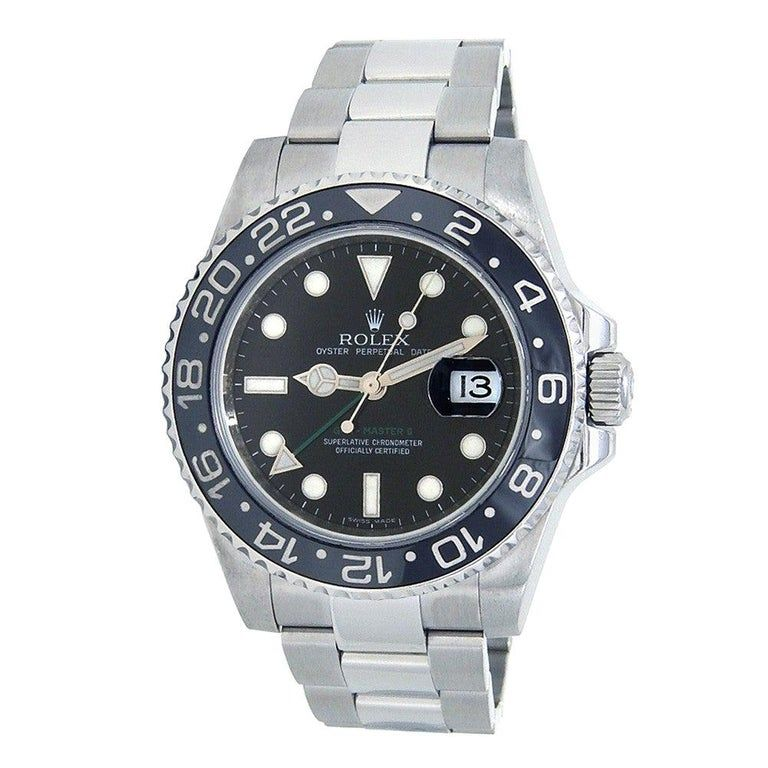 Rolex Gmt Master Ii 116710ln, Black Dial, Certified And Warranty