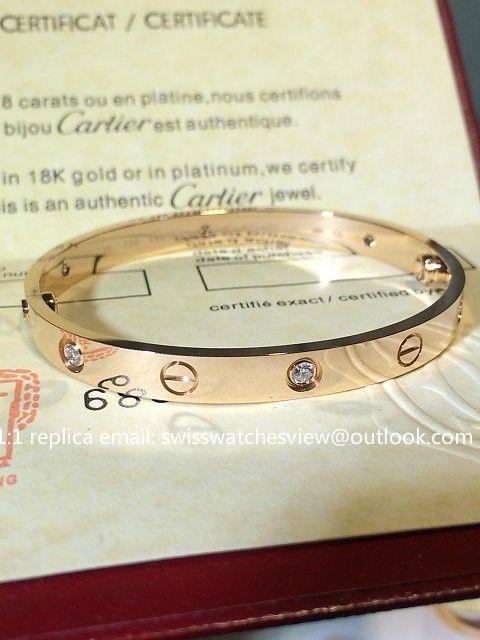 56a86e476a8b Cartier Love Bracelet 18K rose gold diamonds size 16 17 18 19 20 ...
