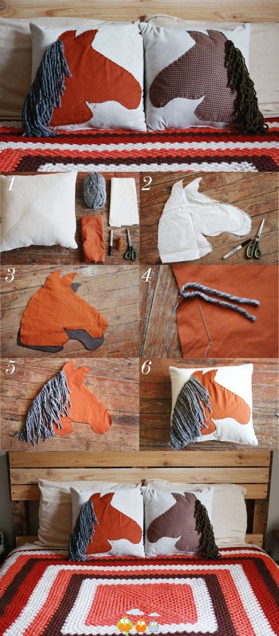 Make it girly? Horse pillow!