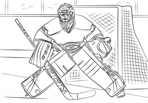 Coloriage De Hockey Hockey Drawing Hockey Goalie Sports Coloring Pages
