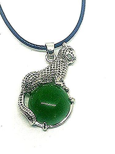 collier argent jade