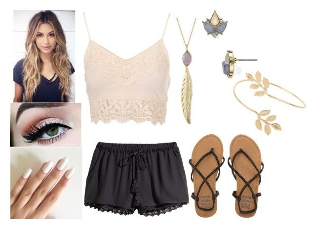 """""""Untitled #501"""" by abundanceofnere on Polyvore featuring H&M, Billabong, Carolee and Miss Selfridge"""