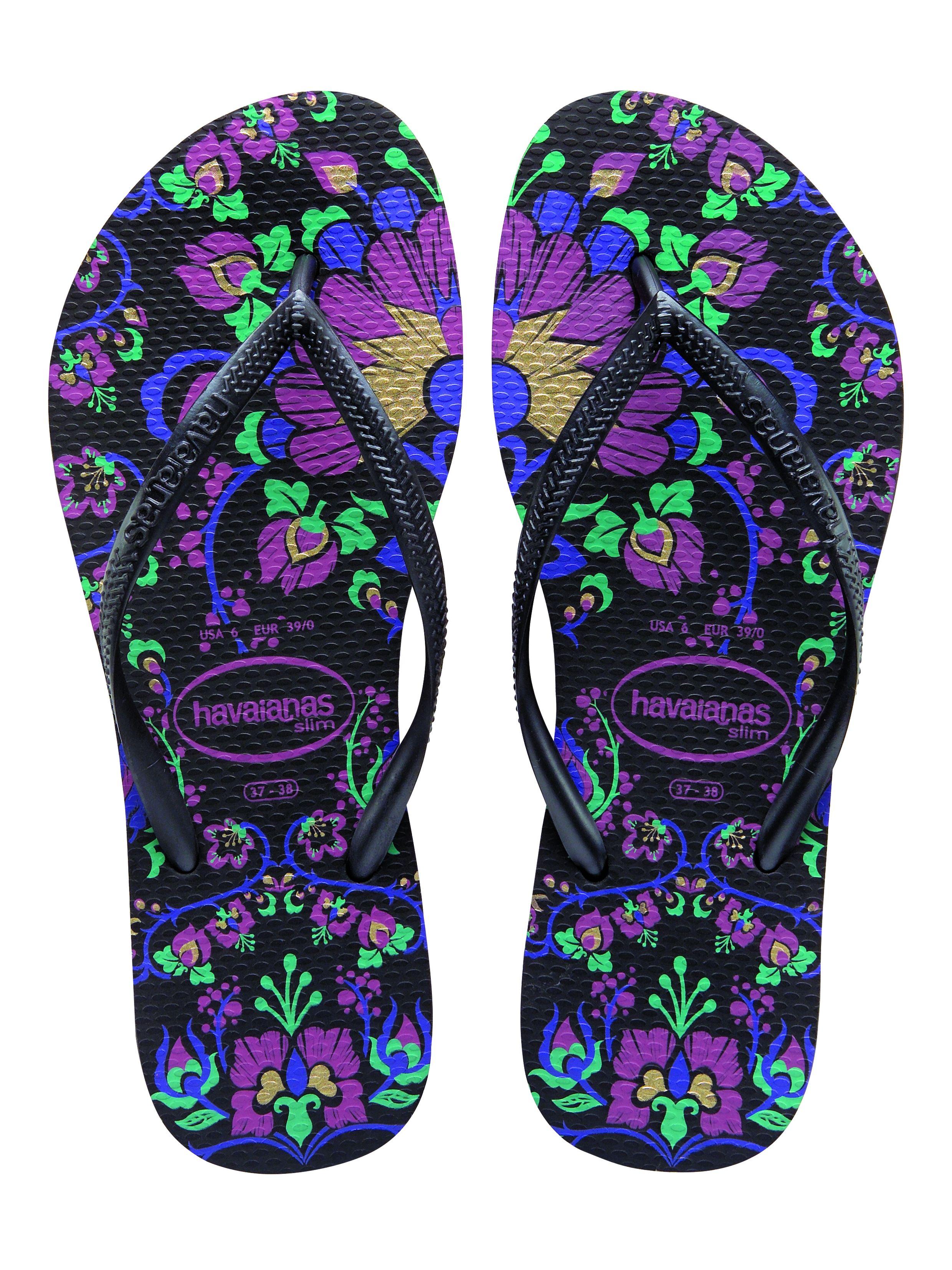 34c90bc3b Havaianas Slim Paradiso Black Thailand Inspiration Barefoot