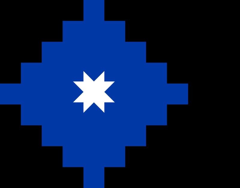 Antigua Bandera Mapuche Con La Estrella De Arauco Gunelve Que