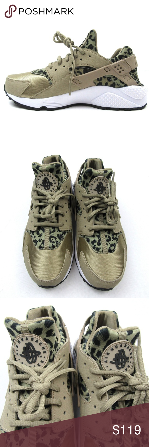 8e545c374ea Nike Air Huarache Women s Size 7.5 Shoes NEW Nike Air Huarache Running  Shoes Leopard Animal Print Style - 725076-200 Women s Size 7.5 Brand New  without a ...