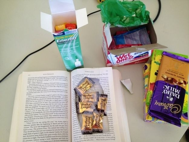 Do it the old-fashioned way and smuggle in candy by any means necessary. I 15 Ways To Remind A Homesick Kid You Love Them