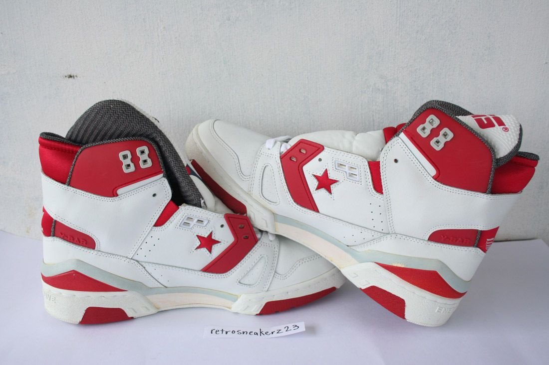 c65926ceb16d1a 1987 DS Men s Converse Cons ERX 260 Hi Basketball 12 5 White Red Grey Vtg