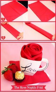 Diy romantical napkin folding napkins folding napkins and tutorials how to turn a napkin into a rose mightylinksfo