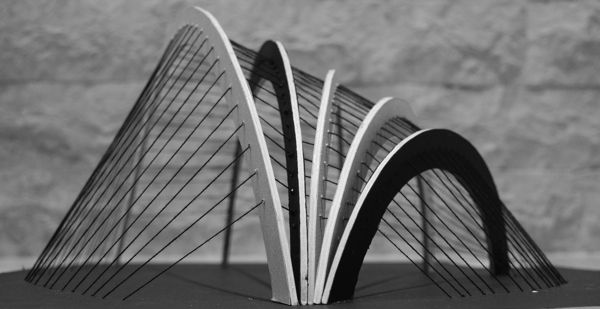 Cable Structure Model On Behance Architectural Models