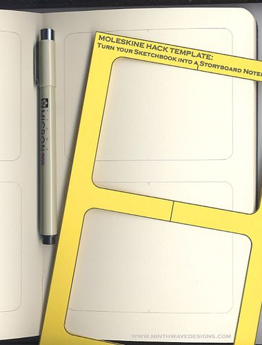 Moleskine Hack: Turn a Large Sketchbook into a Storyboard Notebook ...