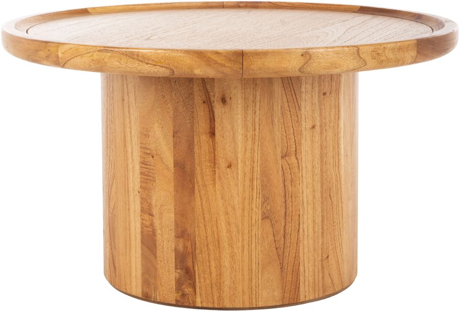 Devin Round Coffee Table, Natural Brown - Spruce Up: Search - coffee tables, brown, eclectic modern