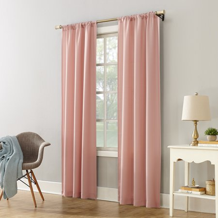 Mainstays Textured Solid Curtain Panel Walmart Com In 2020 Solid Curtains Panel Curtains Curtains