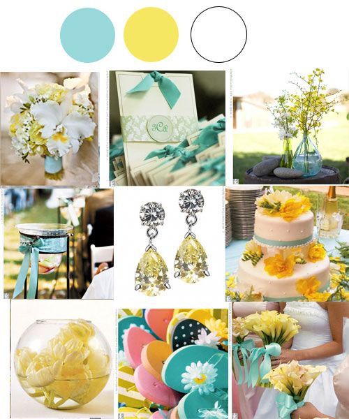 These are almost the exact colors for the blue-yellow wedding we\'re ...