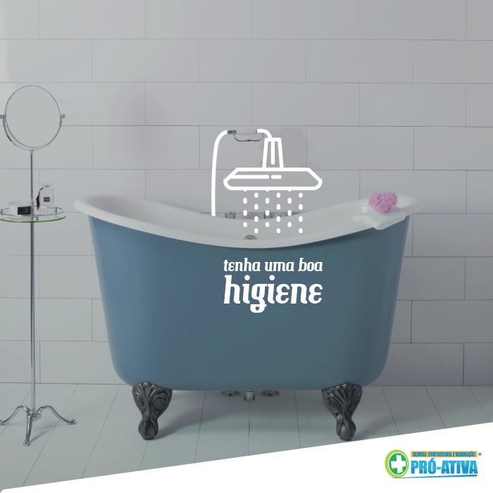 Cuidar da sua Higiene também é uma forma eficaz de cuidar da sua saúde. Lavar as mãos, tomar banho e outros pequenos atos do dia a dia são grandes aliados da sua saúde ;) #Saúde #HigienePessoal #ProAtiva