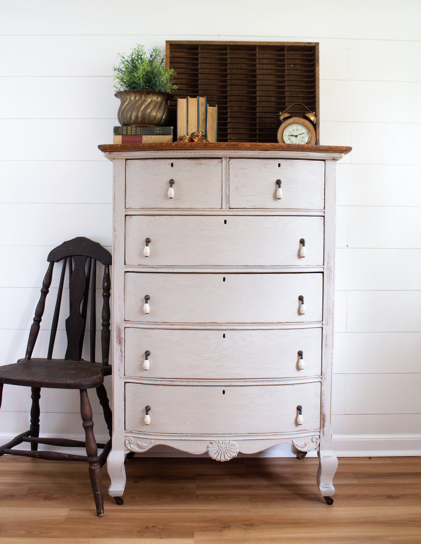 Vintage Coastal Gray Dresser Bowfront Weathered Oak Dresser Etsy Grey Dresser Weathered Oak Oak Dresser [ 3000 x 2321 Pixel ]
