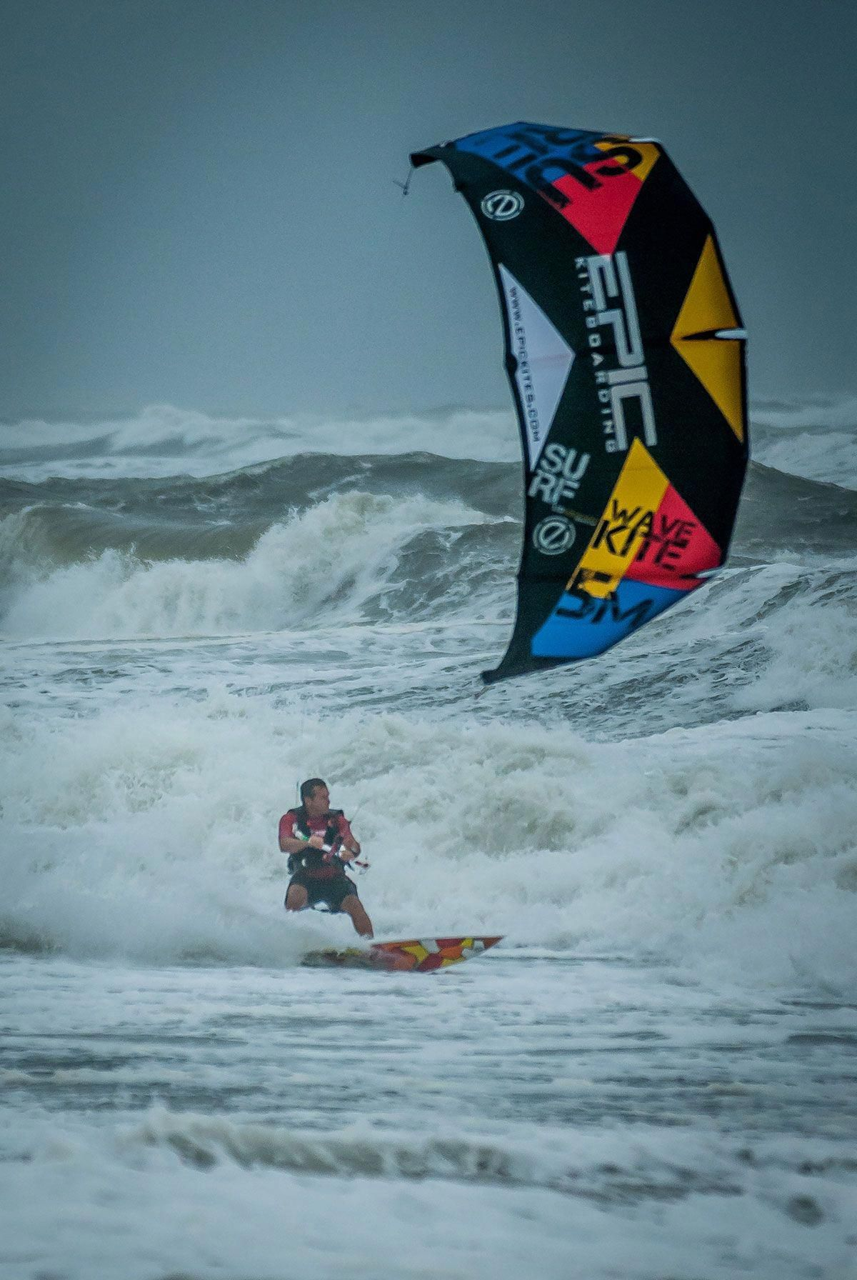 SURF kite in action in OBX 2014, Epic Kites Kiteboarding Gear Action
