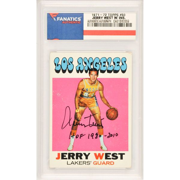 b657cbe3fc6 Jerry West Los Angeles Lakers Fanatics Authentic Autographed 1971-72 Topps   50 Card with HOF 1980-2010 Inscription
