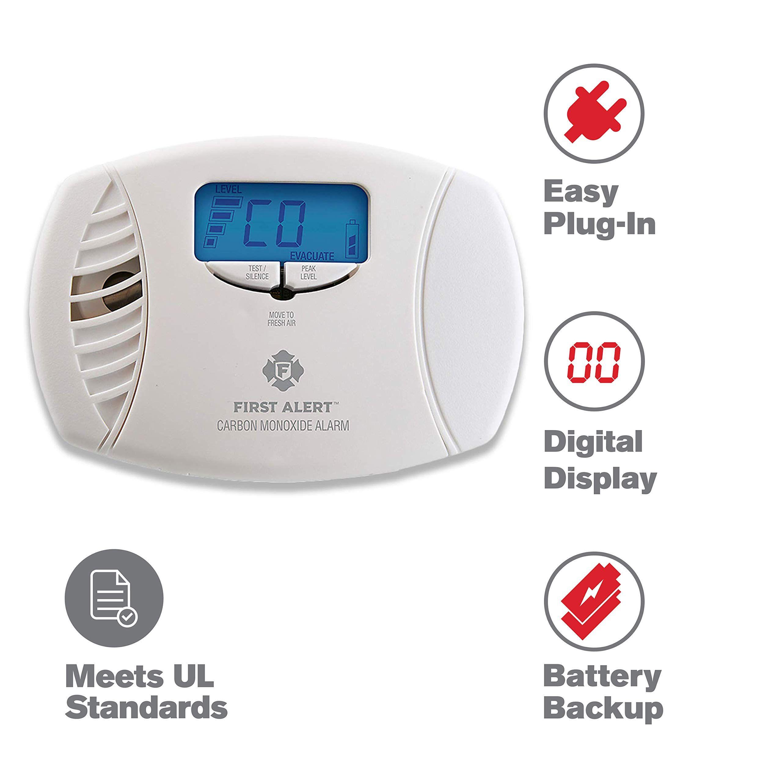 First Alert DualPower Carbon Monoxide Detector Alarm