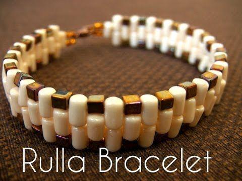 ▶ Beading Ideas - Rulla beads bracelet - YouTube
