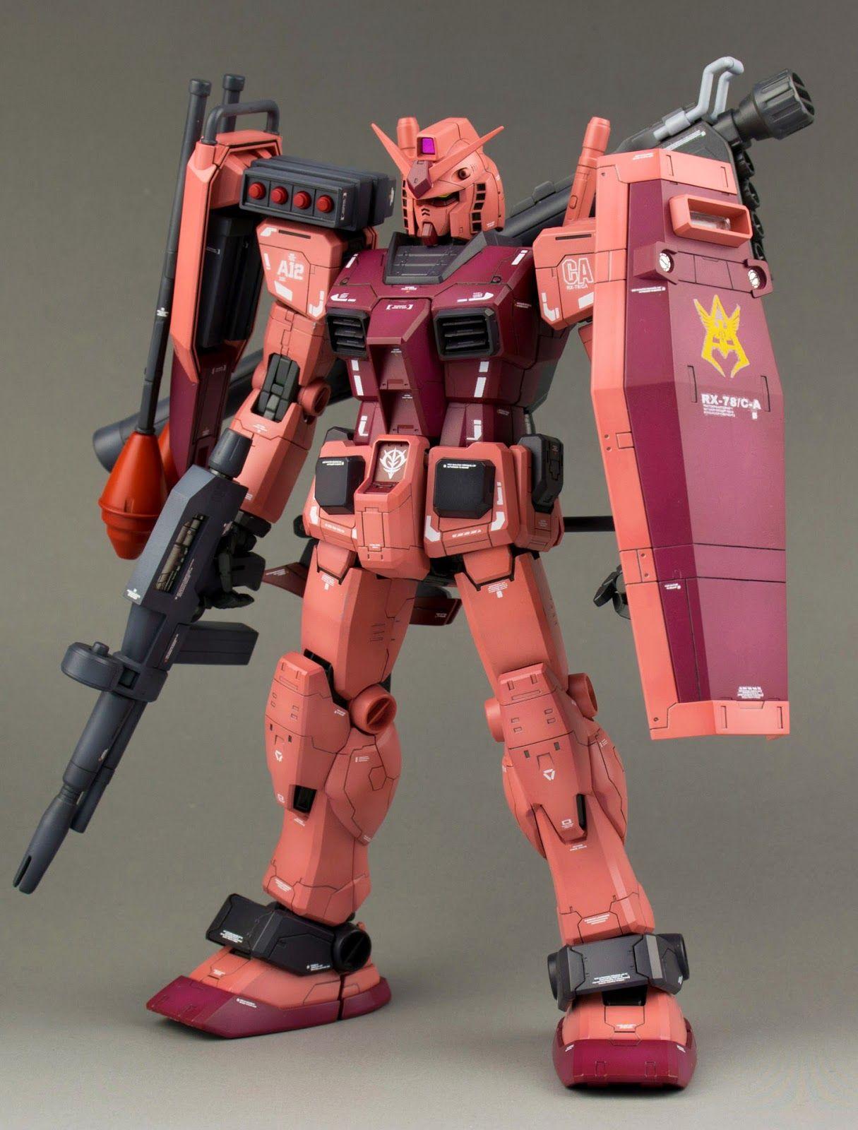 RX-78 CA GUNDAM GUY: MG 1/100 RX-78/C.A. Char Aznable's Customized Gundam