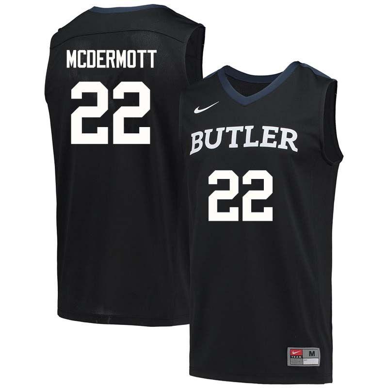 buy online df179 22c5c Men #22 Sean McDermott Butler Bulldogs College Basketball ...