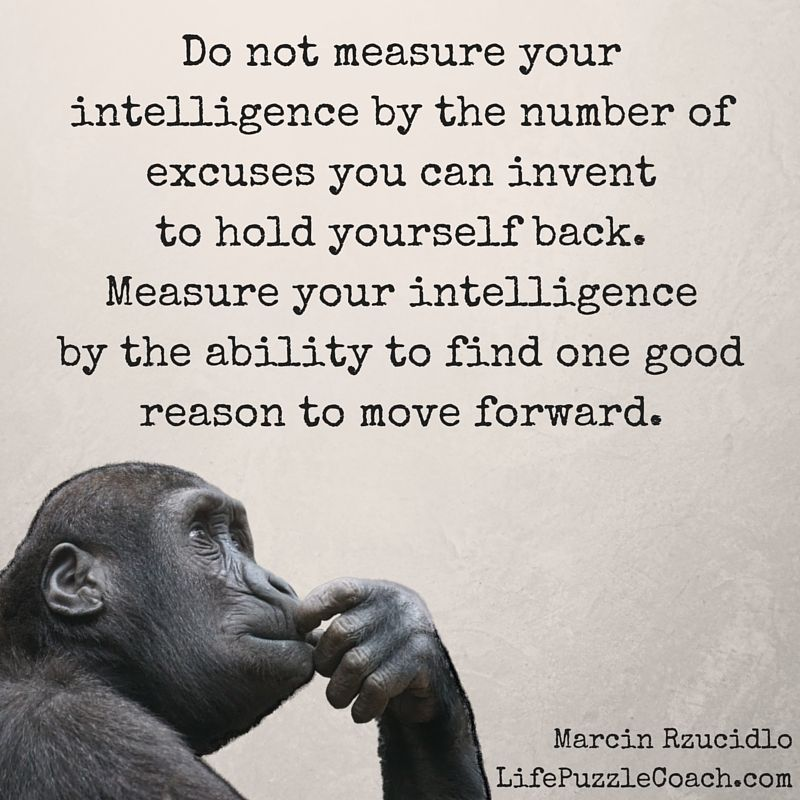 Do Not Measure Your Intelligence By The Number Of Excuses You Can