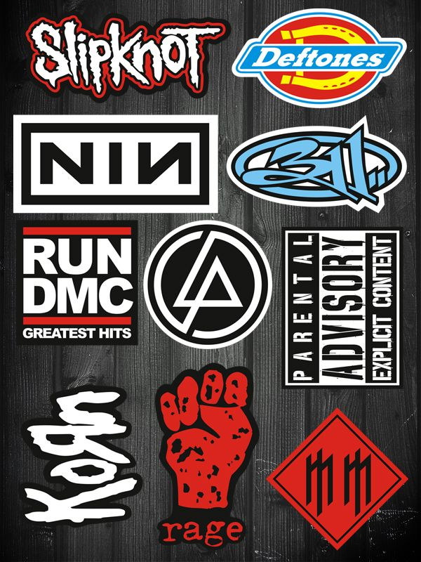 10pcs korn slipknot metal rock band vinyl stickers for laptop skateboard luggage pinterest korn slipknot and rock bands