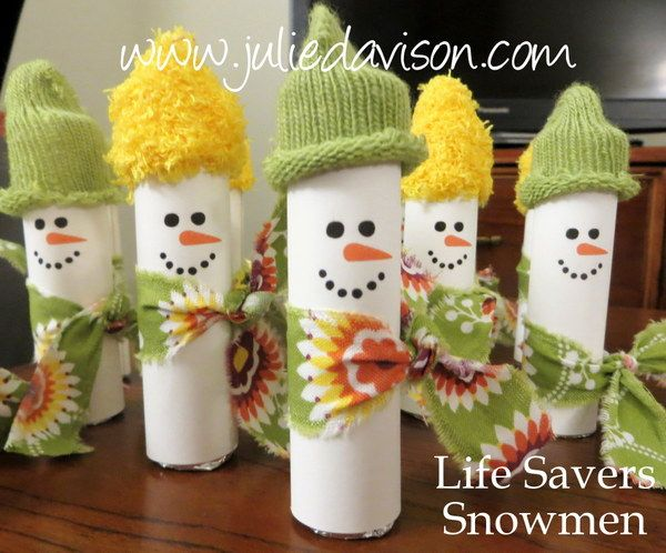 Life Savers Snowmen Treats | Snowman treats, Xmas crafts ...