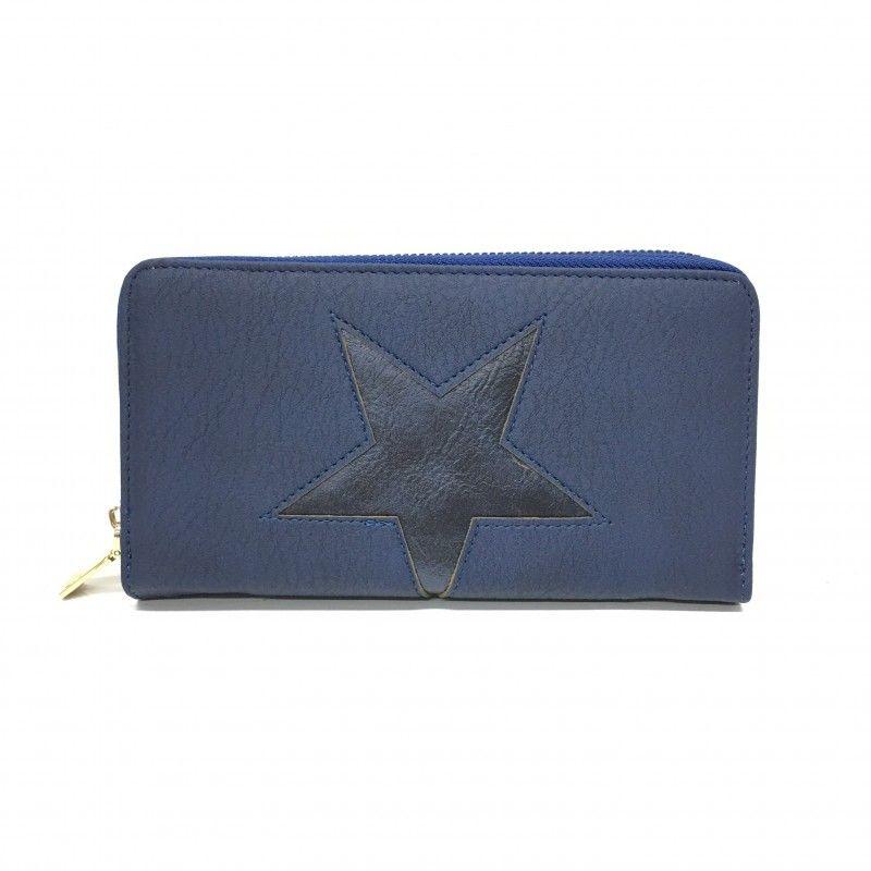 080d37e5d3 cartera estrellas azul Tiendas De Complementos