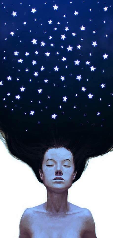 Cabelo sob estrelas