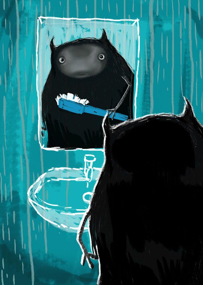 Uno lavandose los dientes