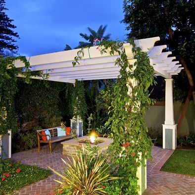 Merveilleux Brick Patio With Arbor